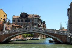 The Ponte delle Guglie bridge in Venice Italy royalty free stock photo