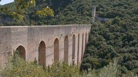Ponte delle Torri akweduktu most, Spoleto, Umbria, Włochy zdjęcie wideo