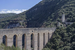 Ponte delle torri in Spoleto Stock Images