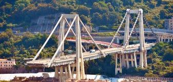 Ponte derrumbado Morandi Génova Italia Imagenes de archivo