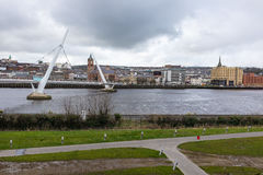 Ponte Derry Northern Ireland di pace Immagine Stock