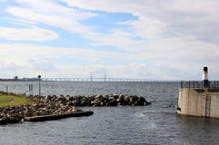 Ponte di Ã-resund fra la Svezia e la Danimarca, Svezia Fotografie Stock Libere da Diritti