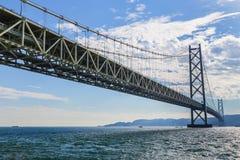 Ponte di Akashi-Kaikyo a Kobe, Giappone immagine stock