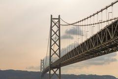 Ponte di Akashi Kaikyo, ponte sospeso Fotografie Stock