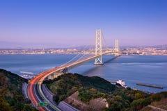 Ponte di Akashi nel Giappone fotografia stock libera da diritti