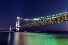 Ponte di Akashi Obashi nel Giappone Fotografie Stock Libere da Diritti
