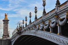Ponte di Alexander 3 fotografia stock
