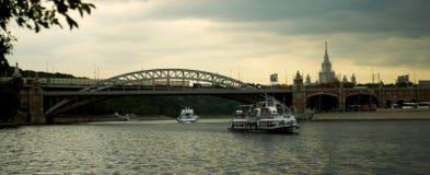 Ponte di Alexandrovsky Immagini Stock
