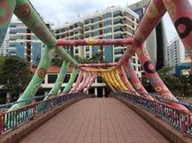 Ponte di Alkaff del fiume di Singapore Fotografie Stock