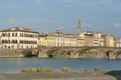Ponte di Alla Carraia a Firenze Fotografia Stock Libera da Diritti