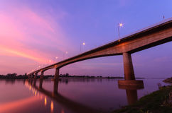 Ponte di amicizia di Tailandese-laotiano fotografie stock libere da diritti