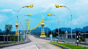 Ponte di amicizia di Tailandese-laotiano Fotografia Stock Libera da Diritti
