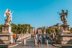 Ponte di Angelo del ` di Sant Immagini Stock Libere da Diritti