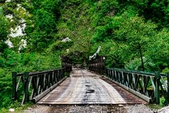 Ponte di Anicent fatto da Britannici in India immagine stock libera da diritti
