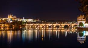 Ponte di Arlov a Praga uguagliante Fotografia Stock Libera da Diritti