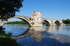 Ponte di Avignone, Francia Fotografie Stock