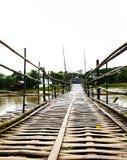 Ponte di bambù Fotografie Stock