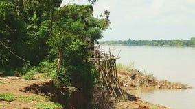 Ponte di bambù, passerella, ponte, stock footage