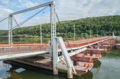 Ponte di barche Immagini Stock