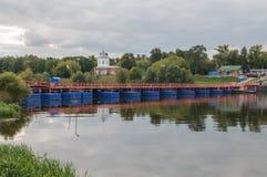 Ponte di barche Immagini Stock Libere da Diritti