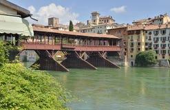 Ponte di barche coperto Fotografia Stock Libera da Diritti