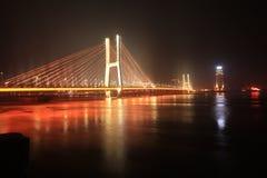 Ponte di Bayi - il primo ponte strallato nella provincia di Jiangxi Immagini Stock