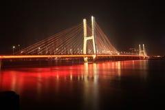Ponte di Bayi - il primo ponte strallato nella provincia di Jiangxi Immagini Stock Libere da Diritti