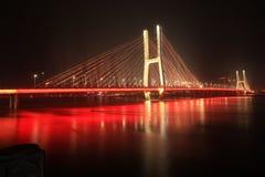 Ponte di Bayi - il primo ponte strallato nella provincia di Jiangxi Fotografia Stock Libera da Diritti