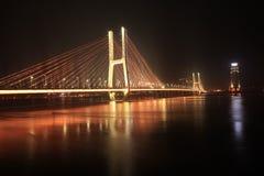 Ponte di Bayi - il primo ponte strallato nella provincia di Jiangxi Immagine Stock Libera da Diritti