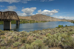 Ponte di Beebe sul fiume Columbia fotografia stock