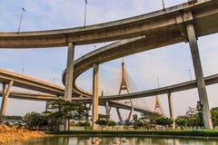 Ponte di Bhumibol Fotografie Stock Libere da Diritti