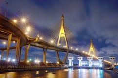Ponte di Bhumibol Immagini Stock Libere da Diritti