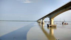 Ponte di Bhumuraguri, Tezpur immagini stock