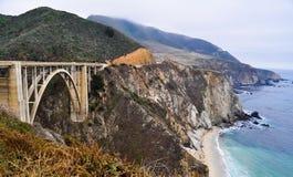 Ponte di Bixby, Big Sur, California Fotografie Stock Libere da Diritti
