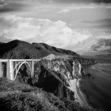 Ponte di Bixby, California Immagini Stock Libere da Diritti