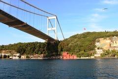 Ponte di Bosphorus, Costantinopoli Turchia Fotografia Stock Libera da Diritti
