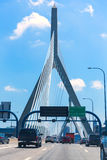 Ponte di Boston Zakim in collina di bunker Massachusetts Fotografie Stock