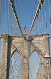 Ponte di Brooklyn Fotografia Stock