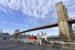 Ponte di Brooklyn Immagini Stock
