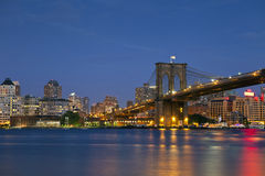Ponte di Brooklyn. Immagine Stock