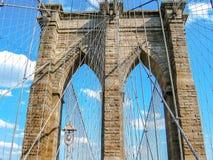 Ponte di Brooklyn al tramonto Fotografie Stock Libere da Diritti