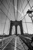 Ponte di Brooklyn in bianco e nero Fotografia Stock Libera da Diritti