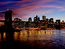 Ponte di Brooklyn di New York Fotografia Stock