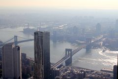 Ponte di Brooklyn di New York Immagini Stock Libere da Diritti