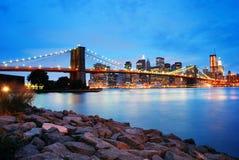 Ponte di Brooklyn di New York City Fotografia Stock