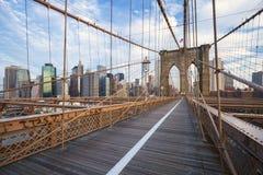 Ponte di Brooklyn di New York City a Manhattan fotografia stock libera da diritti