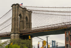 Ponte di Brooklyn e DUMBO Fotografia Stock Libera da Diritti