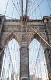 Ponte di Brooklyn e giorno dell'orizzonte di New York immagini stock