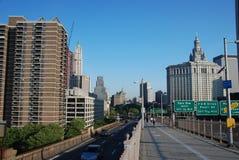 Ponte di Brooklyn e Manhattan Immagine Stock