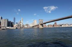 Ponte di Brooklyn e Manhattan New York, S Fotografia Stock